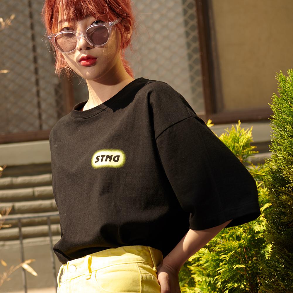 [제너럴아이디어19SS썸머]스프레이 오버핏 티셔츠S9D05028BK