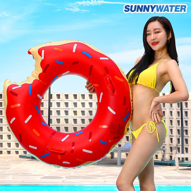 [써니워터] 딸기 도넛 튜브100cm/물놀이용품/보트/수영용품/라이