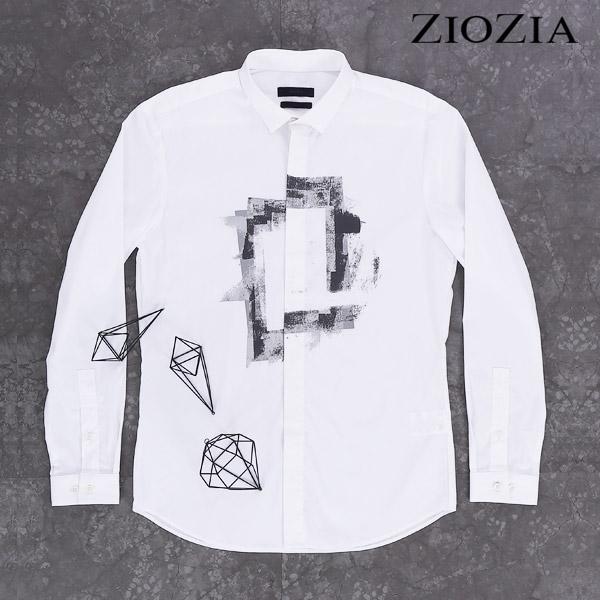 지오지아그래피티 화이트 미니카라 셔츠 I AAX3WC1105_1st