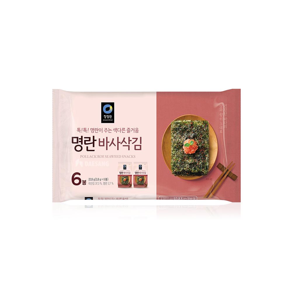 청정원 명란맛 바사삭김 3.8gx6봉