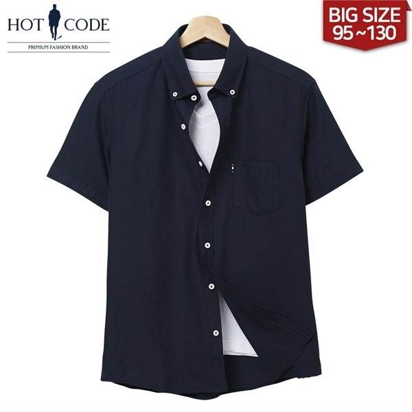 [하프클럽/HOTCODE]여름 남자 반팔 셔츠 빅사이즈 남방 베이..