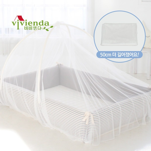 [비비엔다] 아기범퍼침대 전용 모기장 - 루프형