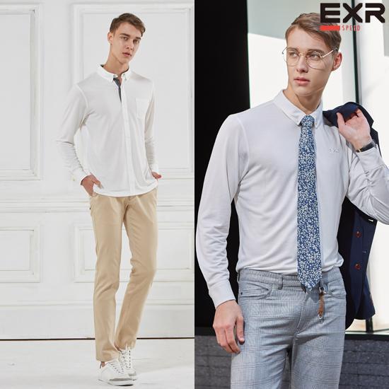 [EXR]남성 컴포트 이지 셔츠 화이트