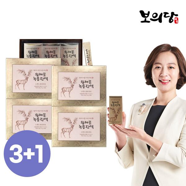 [리얼노니1]왕혜문 녹용진액 4박스4개월분10g X 120포