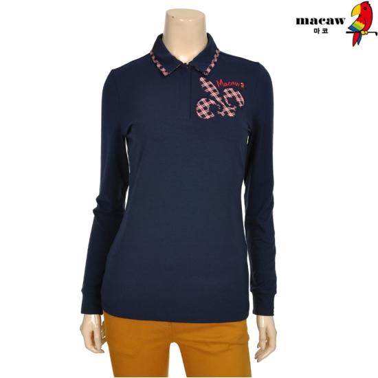 마코 여성 엠블럼 포인트 피케 티셔츠 4MGW3TS01_68