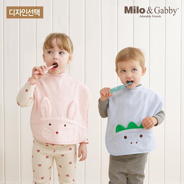 [밀로앤개비]유아 세면타올[아기수건]-디자인선택/아기타올/아기목욕타올/유아목욕타올