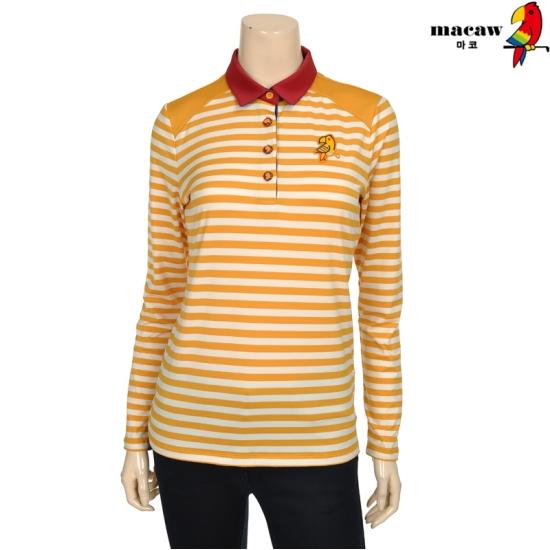 마코 여성 스트라이프 베이직 피케 티셔츠 4MGW3TS70_22