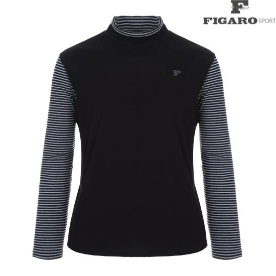피가로스포츠 남성 스트라이프 반터틀 티셔츠 4F8WTS036M_BK