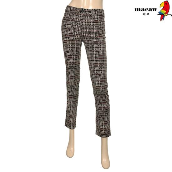 마코 여성 픽셀 패턴 심플 팬츠 4MGW3LP02_17