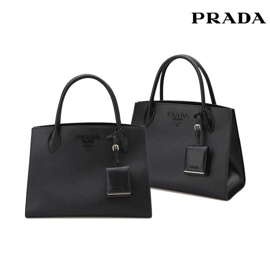 [오플]프라다 모노크롬 미듐 1BA155