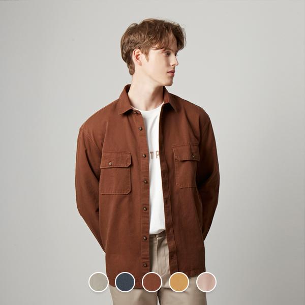 [지오다노] 049904 트윌 아우터 셔츠