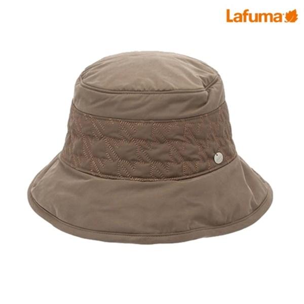 [하프클럽/라푸마]라푸마 여성 베이지 체크퀼팅 와이어챙모자 ..