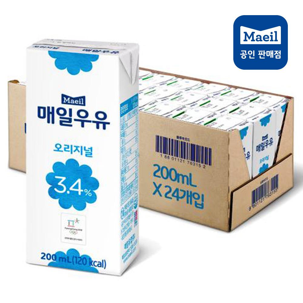 매일유업 멸균우유 오리지널 200ml x 24팩