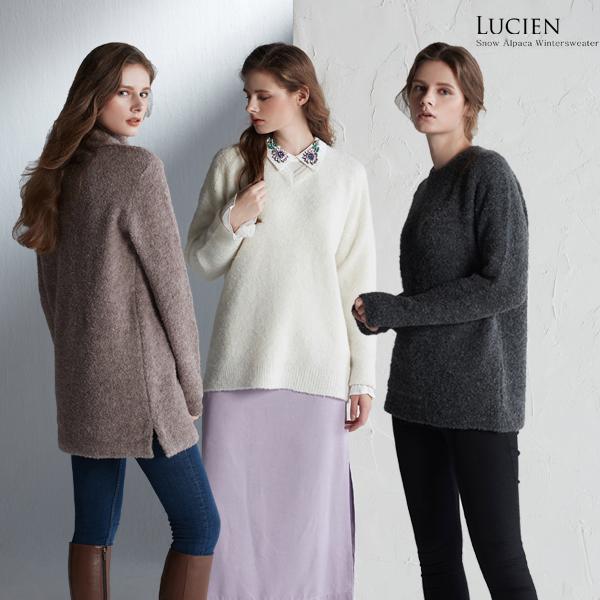 루시앙 스노우알파카 윈터 스웨터 3종