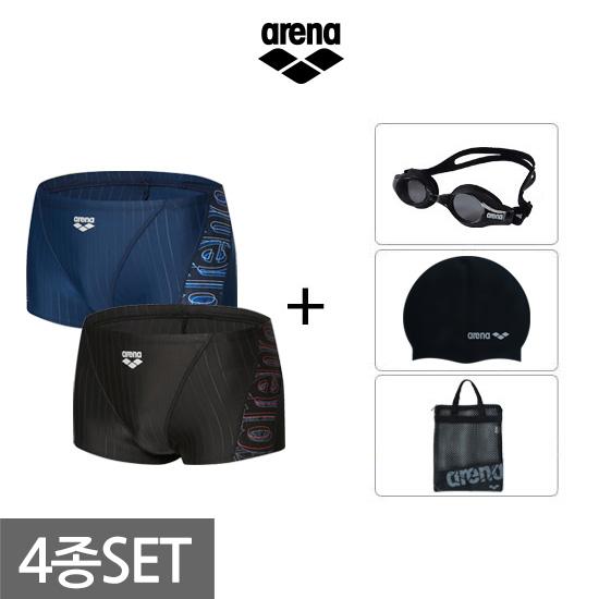 아레나수영복  남성 숏사각 수영복세트 AVSPM06A70