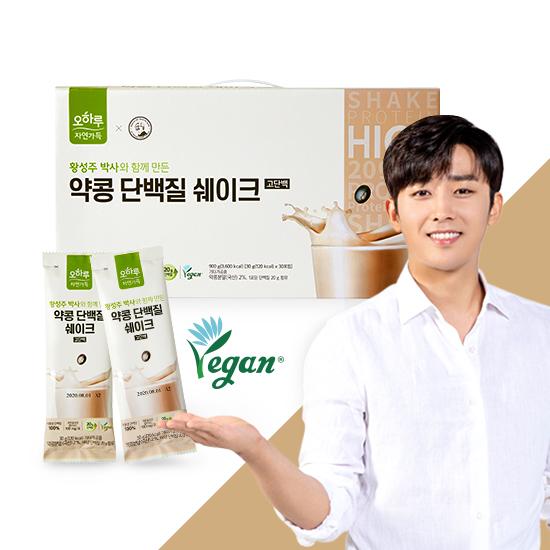 [오하루자연가득 x 황성주] 약콩 단백질 쉐이크 90포 + 쉐이커