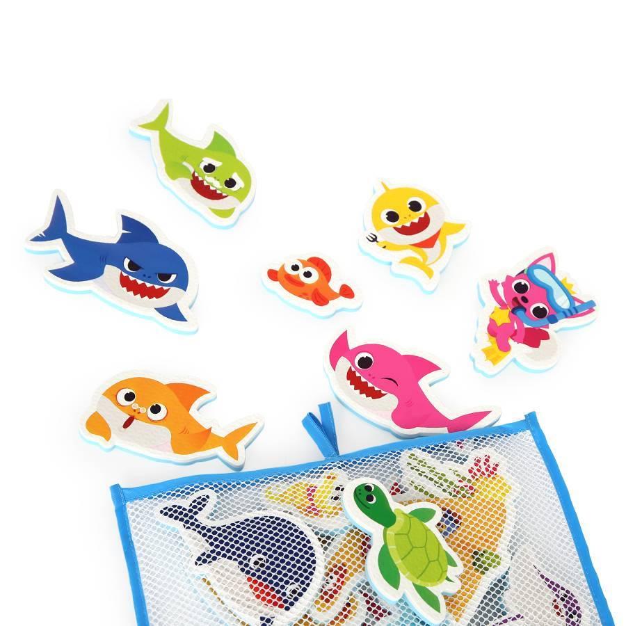 [핑크퐁] 목욕놀이 스티커 - 상어가족