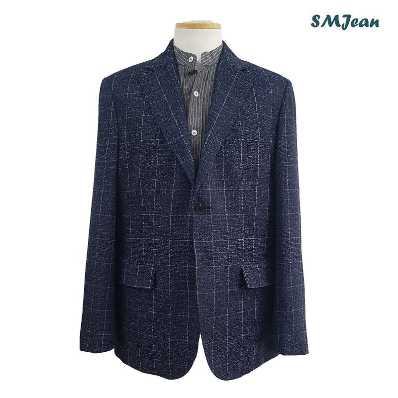 SMJ622 잔피엘 콤비 자켓 남성 캐주얼 마이 투버튼 마이 잔피엘 가을 봄