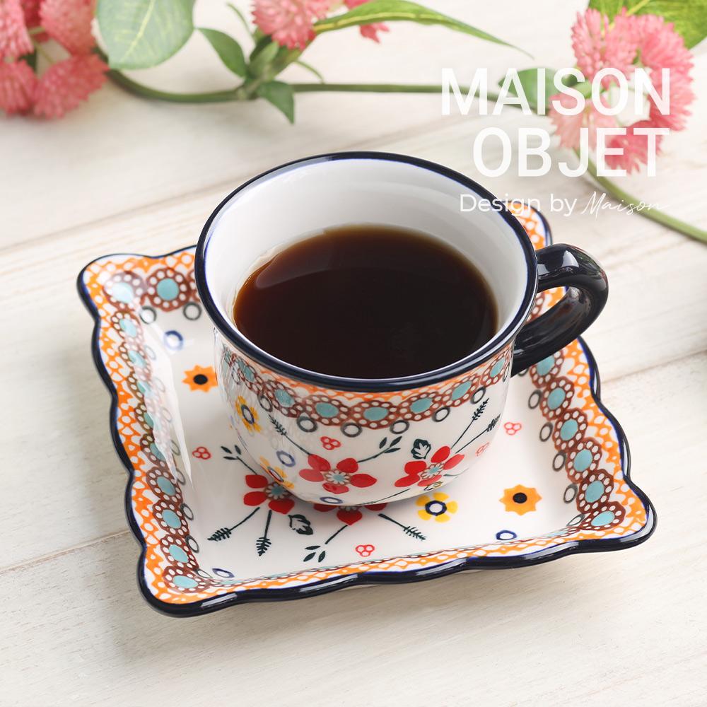 [프라카] 사각 커피잔 세트