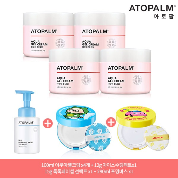 [아토팜] 특별 패키지 7종_ 아쿠아젤크림 4통+ 특별추가 3종