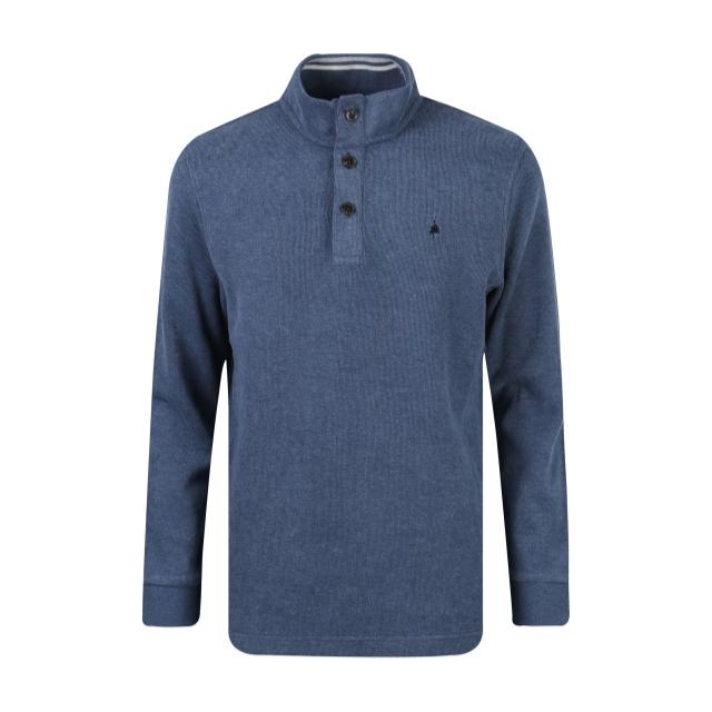 [OLZEN] 버튼 하프 터틀넥 티셔츠 ZOY4TU1301BL