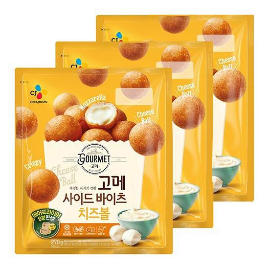 CJ 고메 사이드바이츠 치즈볼 270g X 3봉