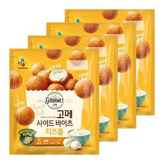 CJ 고메 사이드바이츠 치즈볼 270g X 4봉