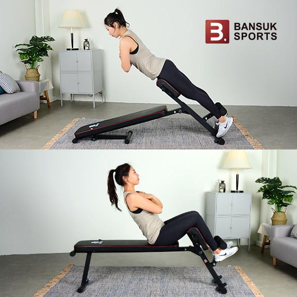 [반석스포츠] 비스펙 멀티트레이너 복근운동기구 평벤치 싯업 로만체어