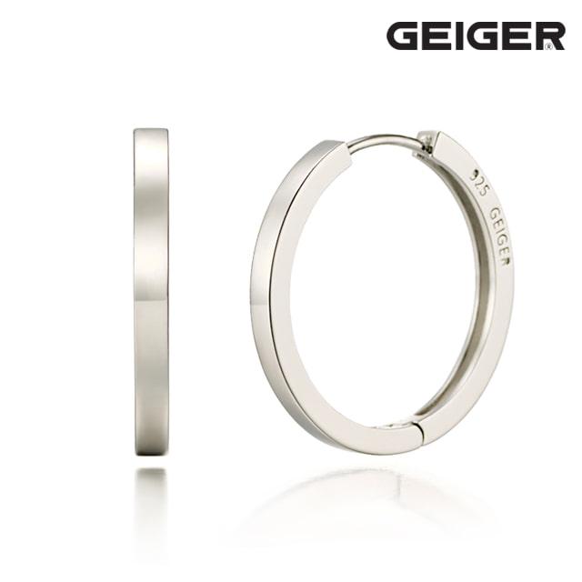 [가이거] 플랫 원터치 실버 귀걸이 GISVEE034