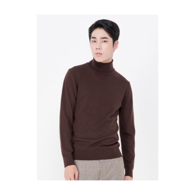 [앤드지] 모 100% 원사 터틀넥 스웨터 BR_BLY4EU1002BR