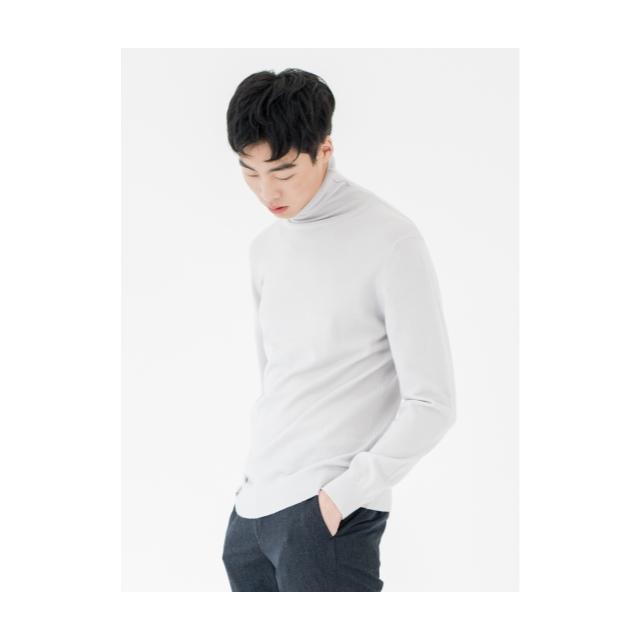 [앤드지] 모 100% 원사 터틀넥 스웨터 LGR_BLY4EU1002LGR