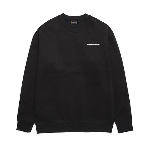 [MLC]내셔널지오그래픽 N193USW940 멜리터 오버핏 맨투맨 티셔츠 CARBON BLACK