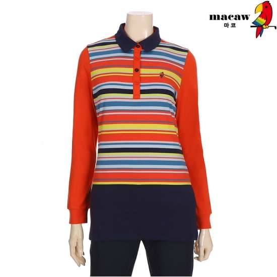 MACAW  여성 멀티스트라이프 티셔츠 4MGW4TS03_30