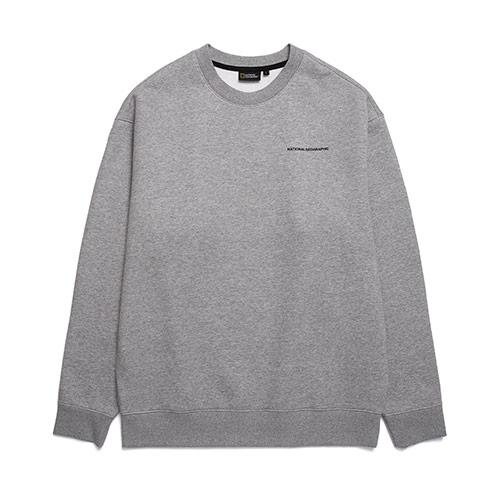[MLC]내셔널지오그래픽 N193USW940 멜리터 오버핏 맨투맨 티셔츠 M GREY