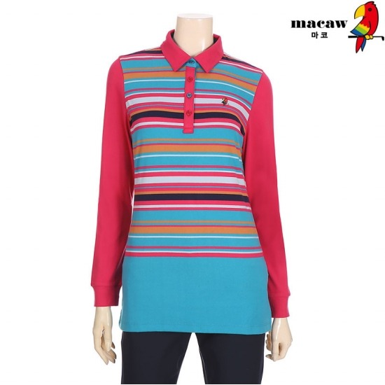 MACAW  여성 멀티스트라이프 티셔츠 4MGW4TS03_44