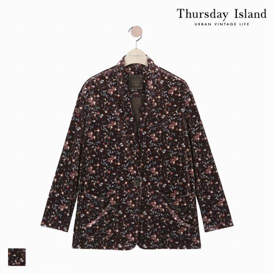 Thursday Island 여성 벨벳 숄카라 재킷T178MJK231W