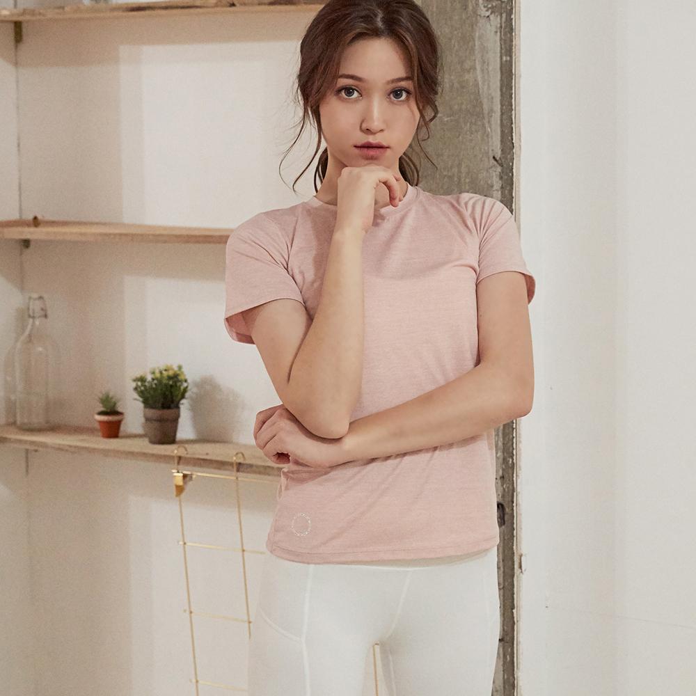 [프런투라인] FTE008 기능성 티셔츠 핑크화이트