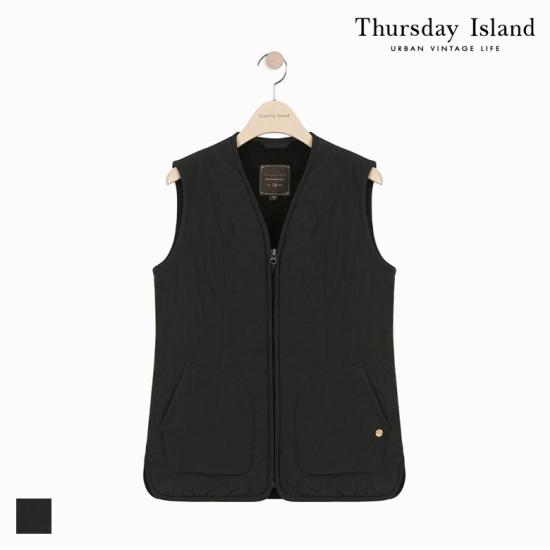 Thursday Island 여성 솔리드 퀼팅 베스트T178MVT235W