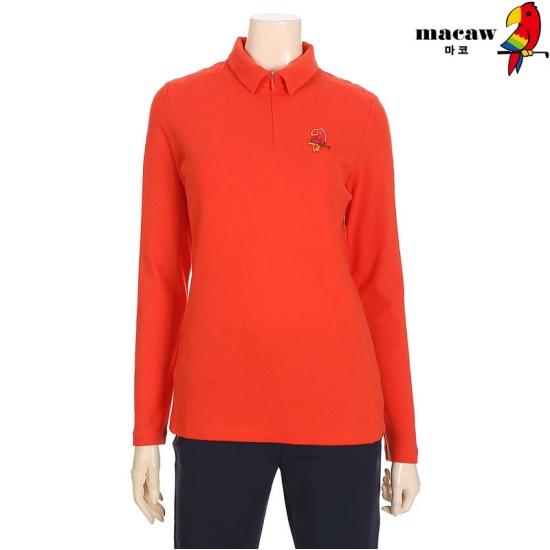 MACAW  여성 어깨상단 퀼팅 반집업 티셔츠 4MGW4TS71_30