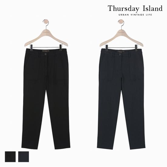 Thursday Island 여성 일자핏 슬랙스 팬츠T178MPT235W