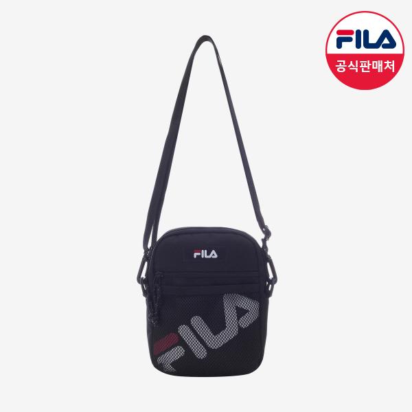 [공식판매처] FILA 공용 리니어로고 메쉬 미니 크로스백 FS3BCB6390X_BLK