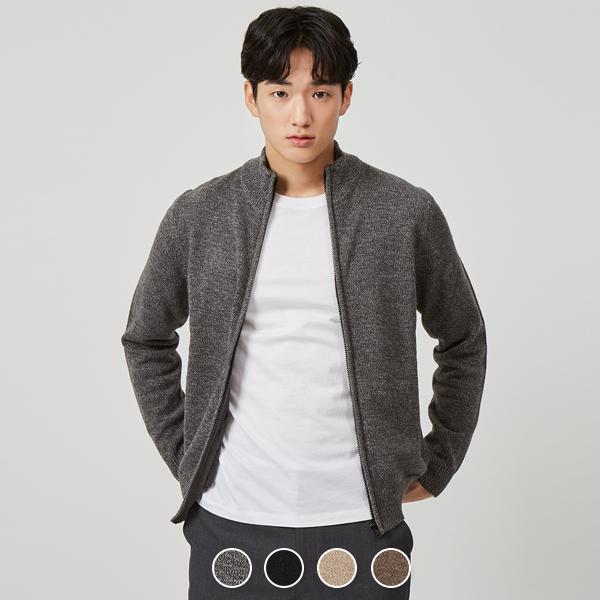 [지오다노] 058913 목넥 집업 가디건5GG