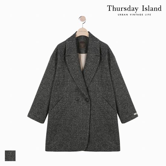 Thursday Island 여성 빅카라 반더블 코쿤 코트T178MCT233W