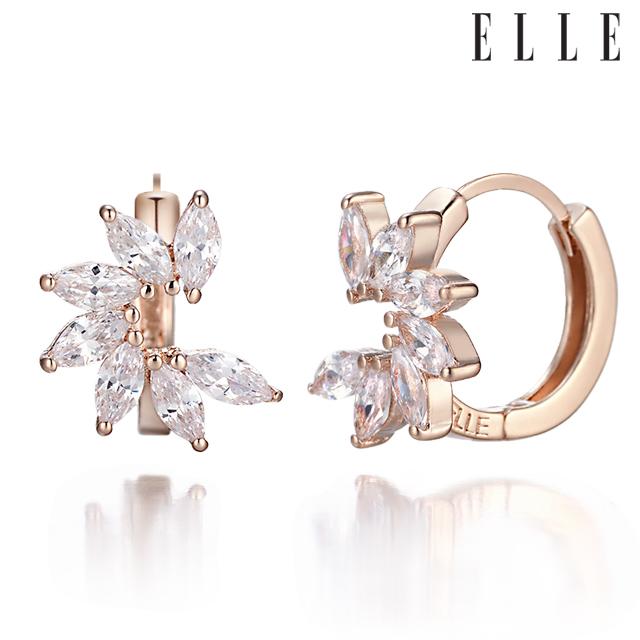 [엘르주얼리] 14K 마퀴즈 원터치 귀걸이 gold pin ELGPEE148