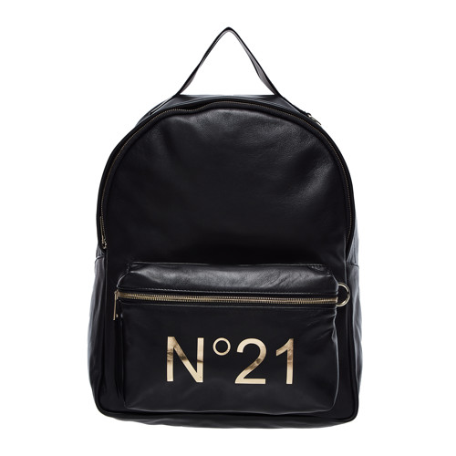공식[N21] LEATHER BACKPACK BLACK