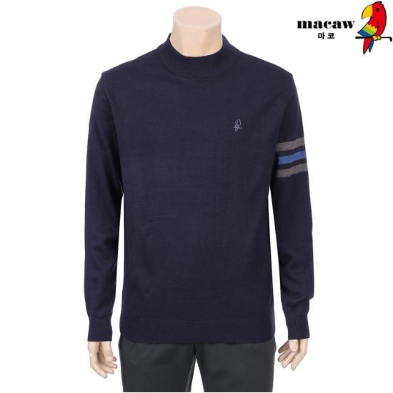 MACAW  남성 소매 포인트 터틀넥 4MGM4SW21_68