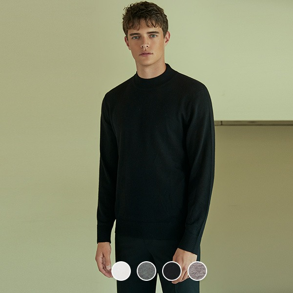 [컨셉원] 059905 12GG 메리노 울 목넥 스웨터 10059905