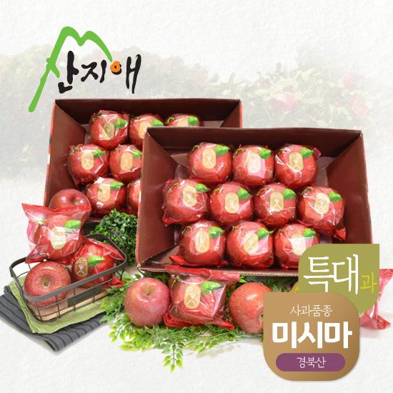 산지애 씻어나온 꿀사과 4kg 2box 특대과 / 봉지, 세척사과