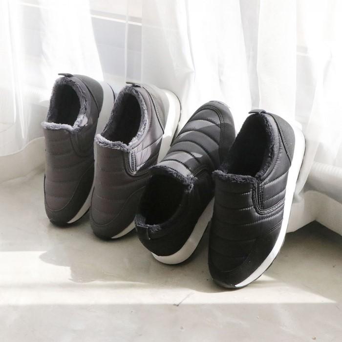 [슈벨] 겨울 여성 패딩 털 방한화 슬립온 운동화 신발 포린스