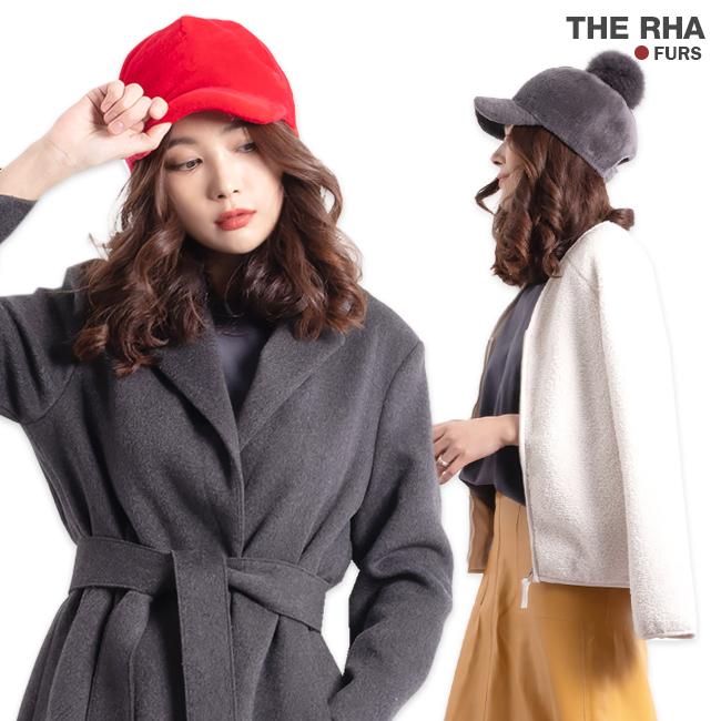 [더라] 따뜻한 방울털모자 양털 볼캡 탈부착 폼폼이